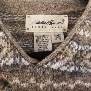 Eddie Bauer sweater tight knit wool blend